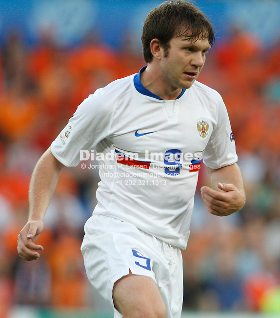 BASEL, SWITZERLAND - JUNE 21:  Ivan Saenko of Russia in action during a UEFA Euro 2008 quarterfinal match against the Netherlands at St. Jakob Park June 21, 2008 in Basel, Switzerland.  (Photograph by Jonathan P. Larsen)