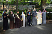 United States President Barack Obama delivers remarks following the Gulf Cooperation Council-U.S. summit at Camp David on May 14, 2015. Obama, was joined by, Abu Dhabi crown prince Sheik Mohammed bin Zayed Al Nahyan; Bahrain Crown Prince Prince Salman bin Hamad Al-Khalif; Deputy Prime Minister of Oman, Sayyid Fahad Bin Mahmood Al Said; Kuwait's Emir Sheik Sabah Al-Ahmad Al-Jaber Al-Sabah; Qatar's Emir Sheik Tamim bin Hamad Al-Thani; Saudi Arabia Crown Prince Mohammed bin Nayef; and Secretary General of the Gulf Cooperation Council, Abdul Latif Bin Rashid Al Zayani of Bahrain. The summit was called to discuss issues affecting the region including terrorism and the U.S.-Iran nuclear deal. <br /> Credit: Kevin Dietsch / Pool via CNP