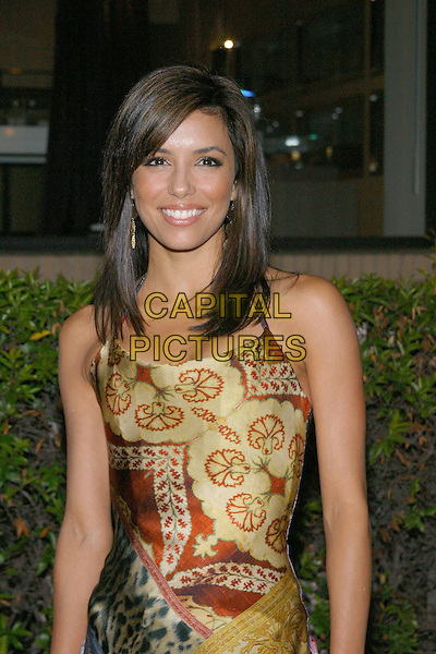 EVA LONGORIA.Desparate Housewives - New ABC Series Viewing Party at Barney's Beverly Hills Store. .October 3rd, 2004.half length, silk, satin, printed pattern dress.www.capitalpictures.com.sales@capitalpictures.com.© Jacqui Wong/AdMedia/Capital Pictures.