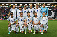 The England Women's team ahead of the Women's Friendly match between England Women and Austria Women at stadium:mk, Milton Keynes, England on 10 April 2017. Photo by PRiME Media Images / David Horn.