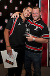 Under 20 Most Improved Player Simon Marcel with Steeler Mark Price. Counties Manukau Representative Teams prize givung held at Bayer Growers Stadium on Thursday October 28th 2010.
