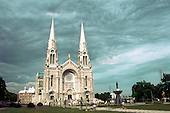 Basilica of Sainte-Anne-de-Beaupre. A major Catholic shrine and place of healing that attracts near to 1 million pilgrims per year. The Basilica was built in 1876.