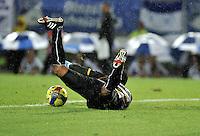 BOGOTA - COLOMBIA-15-06-2013: Jose Fernando Cuadrado, portero de Once Caldas en acción durante partido en el estadio Nemesio Camacho El Campin de la ciudad d Bogota, junio 15 de 2013. Millonarios y Once Caldas, durante partido por la primera fecha de los cuadrangulares semifinales de la Liga Postobon I. (Foto: VizzorImage / Luis Ramirez / Staff).  Jose Fernando Cuadrado, goalkeerper of Once Caldas in action during game in the Nemesio Camacho El Campin stadium in Bogota City, June 15, 2013. Millonarios y Once Caldas during match for the first round of the semi finals   of the Postobon League I. (Photo: VizzorImage / Luis Ramirez / Staff).