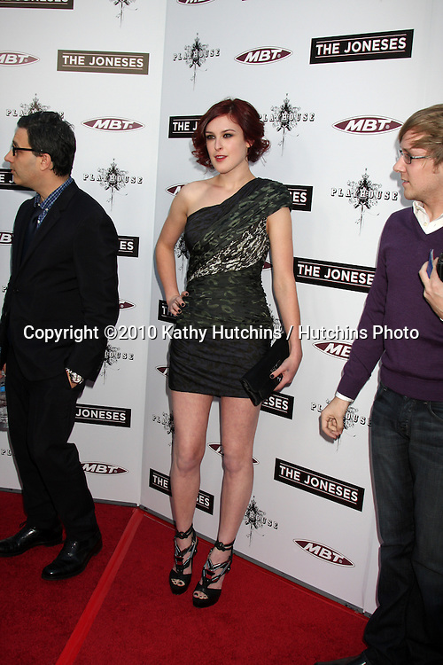 ".Rumer Willis.arrives at ""The Joneses"" Premiere.ArcLight Theaters.Los Angeles, CA.April 7, 2010.©2010 Kathy Hutchins / Hutchins Photo..."