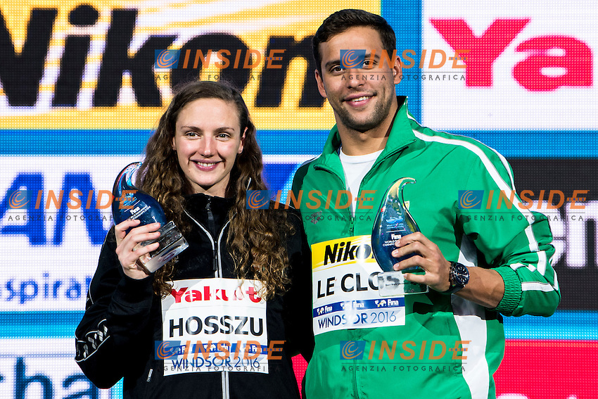 Best Athletes<br /> HOSSZU Katinka HUN <br /> LE CLOS Chad RSA<br /> 13th Fina World Swimming Championships 25m <br /> Windsor  Dec. 11th, 2016 - Day06 Finals<br /> WFCU Centre - Windsor Ontario Canada CAN <br /> 20161211 WFCU Centre - Windsor Ontario Canada CAN <br /> Photo &copy; Giorgio Scala/Deepbluemedia/Insidefoto