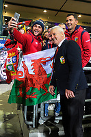Lions coach Warren Gatland gets a selfie with fans after the 2017 DHL Lions Series rugby union match between the NZ Maori and British & Irish Lions at Rotorua International Stadium in Rotorua, New Zealand on Saturday, 17 June 2017. Photo: Dave Lintott / lintottphoto.co.nz
