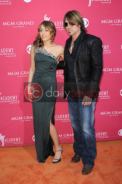 Billy Ray Cyrus and Miley Cyrus<br />at the 44th Annual Academy of Country Music Awards. MGM Grand Garden Arena, Las Vegas, NV. 04-05-09<br />Dave Edwards/DailyCeleb.com 818-249-4998