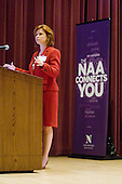 April 14, 2012; Evanston, IL, USA; NBC News political correspondent Kelly O'Donnell (SESP '87) speaks at the afternoon keynote during the 2012 A Day With Northwestern at the Norris Center.  Photo By: Jerry Lai (WCAS '04)