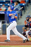 Andrew Istler #26 of the Duke Blue Devils follows through on his swing against the Virginia Cavaliers at Durham Bulls Athletic Park on April 20, 2012 in Durham, North Carolina.  The Blue Devils defeated the Cavaliers 6-3.  (Brian Westerholt/Four Seam Images)