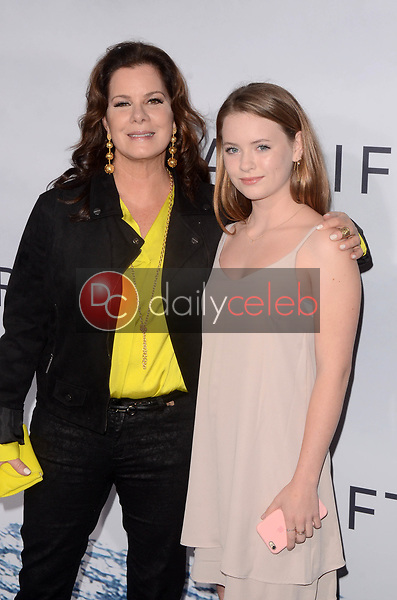 "Marcia Gay Harden, Julitta Scheel<br /> at the ""Adrift"" World Premiere, Regal Cinemas L.A. Live, Los Angeles, CA 05-23-18<br /> David Edwards/DailyCeleb.com 818-249-4998"