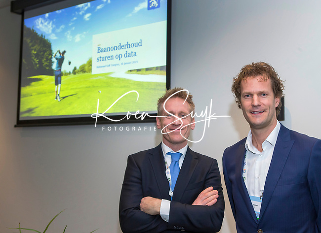 BUSSUM - Koert Donkers en Niels Dokkuma (NGF)   Nationaal Golf Congres & Beurs. COPYRIGHT KOEN SUYK