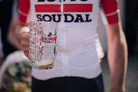 Frederik Frison (BEL/Lotto-Soudal) clearly appreciated the podium brew...<br /> <br /> 8th Primus Classic 2018 (1.HC)<br /> 1 Day Race: Brakel to Haacht (193km / BEL)