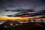 USA, Hawaii, Big Island , Mauna Kea Observatories (MKO)