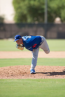 Los Angeles Dodgers relief pitcher Bryan Warzek (40) follows through on his delivery during an Instructional League game against the Milwaukee Brewers at Maryvale Baseball Park on September 24, 2018 in Phoenix, Arizona. (Zachary Lucy/Four Seam Images)
