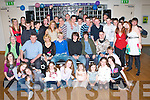 18TH BIRTHDAY: Patrick Kelly, Clashaphuca (seated 4th left) having a great time with a large group of family and friends at the Ballyroe Heights Hotel on Friday.   Copyright Kerry's Eye 2008