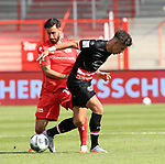 27.06.2020, Stadion an der Wuhlheide, Berlin, GER, DFL, 1.FBL, 1.FC UNION BERLIN  VS. Fortuna Duesseldorf , <br /> DFL  regulations prohibit any use of photographs as image sequences and/or quasi-video<br /> im Bild Nicolai Rapp (1.FC Union Berlin #18), Alfredo Morales (Fortuna Duesseldorf #6)<br /> <br />      <br /> Foto © nordphoto / Engler