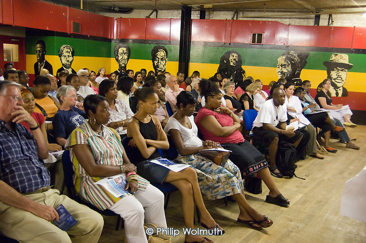 'Tell It Like It Is' meeting at the Yaa Asantewaa Centre in North Paddington: part of a national campaign questioning the under-achievement of black children in schools.