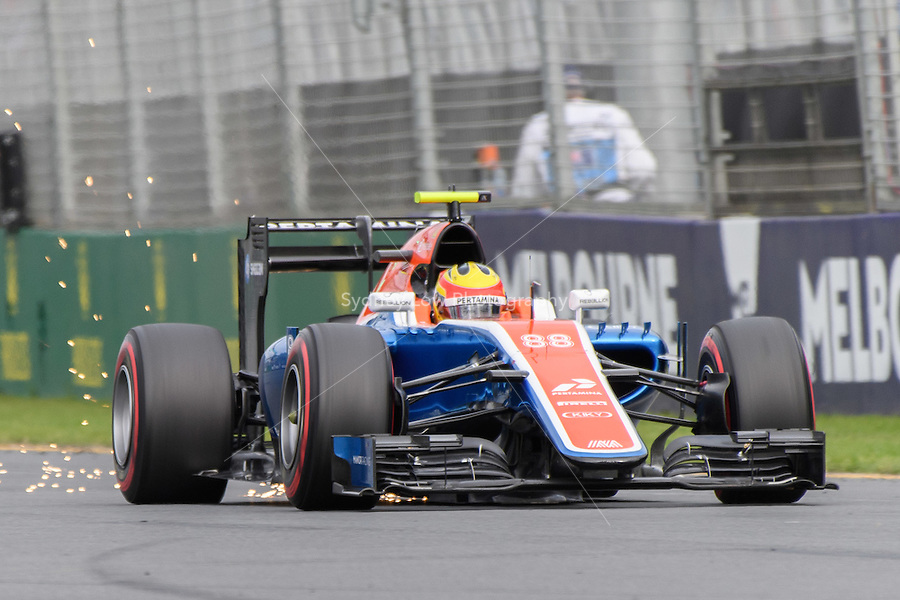 March 19, 2016: Rio Haryanto (IDN) #88 from the Manor Racing during qualifying at the 2016 Australian Formula One Grand Prix at Albert Park, Melbourne, Australia. Photo Sydney Low