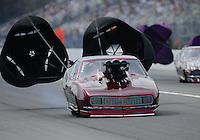 Mar. 9, 2012; Gainesville, FL, USA; NHRA pro mod driver XXXX during qualifying for the Gatornationals at Auto Plus Raceway at Gainesville. Mandatory Credit: Mark J. Rebilas-