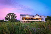 Historic cotton gin near Catahoula Parish in Louisiana. Baker's Ginnery