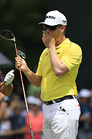Chris Stroud (USA) on the 1st tee to start Saturday's Round 3 of the 2017 PGA Championship held at Quail Hollow Golf Club, Charlotte, North Carolina, USA. 12th August 2017.<br /> Picture: Eoin Clarke | Golffile<br /> <br /> <br /> All photos usage must carry mandatory copyright credit (&copy; Golffile | Eoin Clarke)