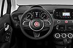 Car pictures of steering wheel view of a 2019 Fiat 500X Cross-S-Design 5 Door SUV Steering Wheel
