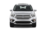 Car photography straight front view of a 2017 Ford Escape SE 5 Door SUV Front View