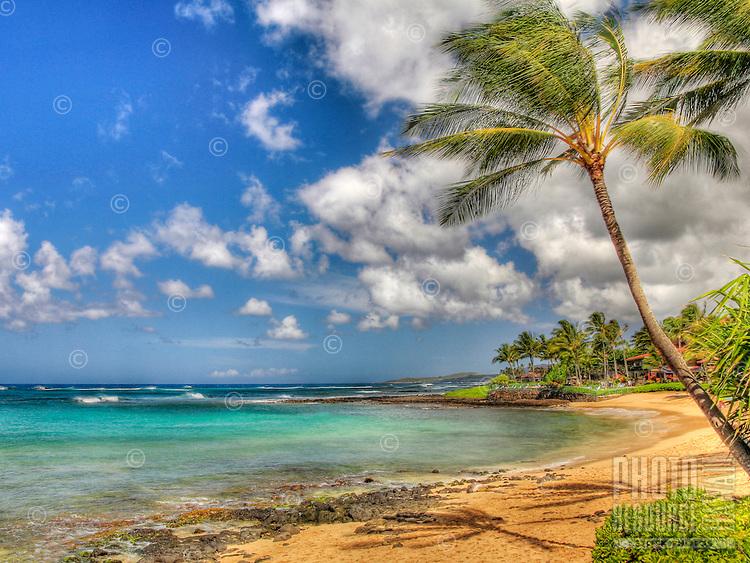 Waiohai Beach, Poipu, Kauai, Hawaii.