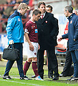 HEARTS' IAN BLACK GOES OFF INJURED