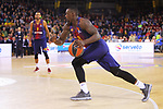 Turkish Airlines Euroleague 2017/2018.<br /> Regular Season - Round 13.<br /> FC Barcelona Lassa vs Unicaja Malaga: 83-90.<br /> Rakim Sanders.