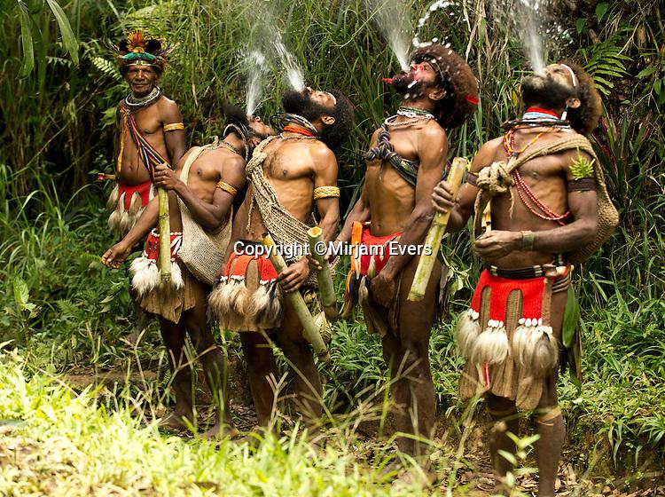 Huli wig school, Tari, Papua New Guinea.