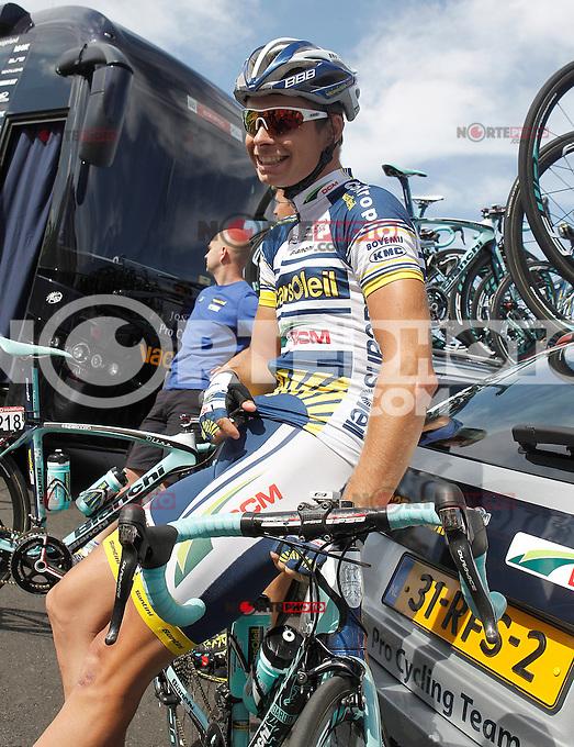Bertjan Lindeman during the stage of La Vuelta 2012 between Vilagarcia de Arousa and Mirador de Erazo (Dumbria).August 30,2012. (ALTERPHOTOS/Acero) /NortePhoto.com<br /> <br /> **CREDITO*OBLIGATORIO** <br /> *No*Venta*A*Terceros*<br /> *No*Sale*So*third*<br /> *** No*Se*Permite*Hacer*Archivo**<br /> *No*Sale*So*third*