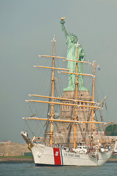 The Eagle resting on Ellis Island during Opsail, New York 2012