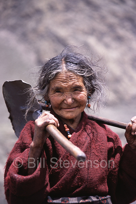 A Tibetan woman in Samagaon village in Nepal.