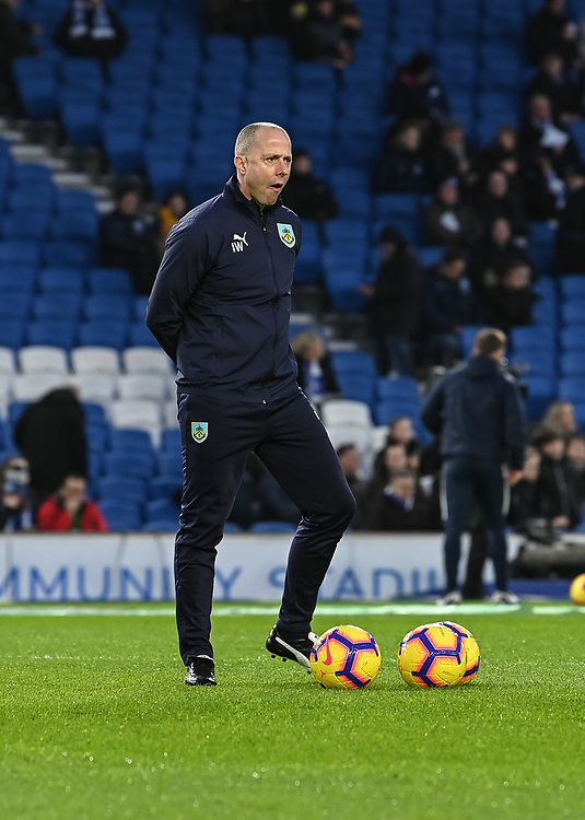 Burnley Assistant Manager Ian Woan<br /> <br /> Photographer David Horton/CameraSport<br /> <br /> The Premier League - Brighton and Hove Albion v Burnley - Saturday 9th February 2019 - The Amex Stadium - Brighton<br /> <br /> World Copyright &copy; 2019 CameraSport. All rights reserved. 43 Linden Ave. Countesthorpe. Leicester. England. LE8 5PG - Tel: +44 (0) 116 277 4147 - admin@camerasport.com - www.camerasport.com
