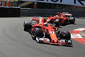 May 28th 2017, Monaco; F1 Grand Prix of Monaco Race Day;  Kimi Raikkonen - Scuderia Ferrari SF70H on his way to a 2nd placed finish