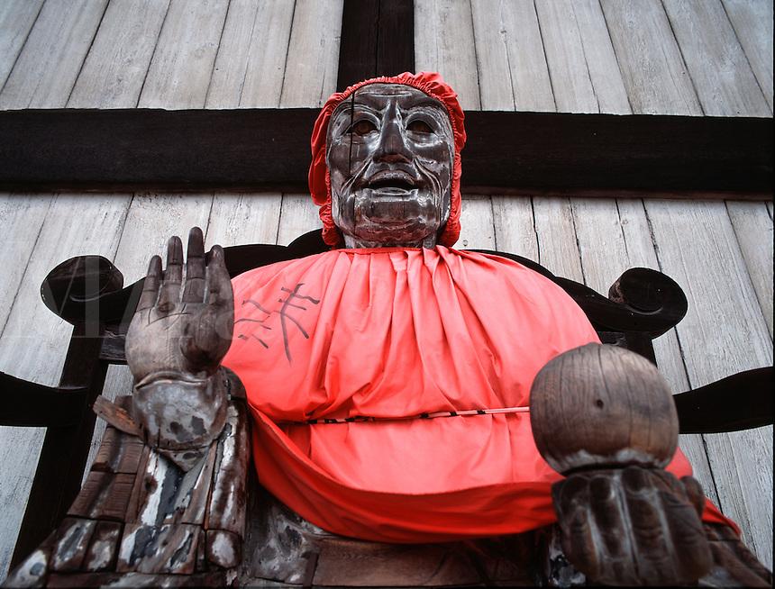 Deity, Daibutsuden temple (The Hall of the Great Buddha), Nara, Japa