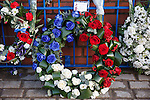 Memorial to the victims of the Ibrox disaster of 1971 at the John Greig Statue, Ibrox Stadium