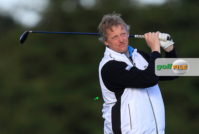 Gavin Kavanagh (Delgany G.C) on the 13th tee during Round 1 of The Cassidy Golf 103rd Irish PGA Championship in Roganstown Golf Club on Thursday 10th October 2013.<br /> Picture:  Thos Caffrey / www.golffile.ie