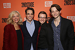 """Rachel Bay Jones, Steven Levenson, Will Roland and Mike Faist attends the After Party for the Second Stage Production of """"Days Of Rage"""" at Churrascaria Platforma on October 30, 2018 in New York City."""