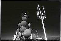 Microwave antennas on mountaintop<br />