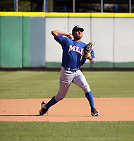 Branlyn Jaraba participates in the MLB International Showcase at Estadio Quisqeya on February 22-23, 2017 in Santo Domingo, Dominican Republic.