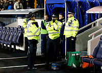 A police presence at the manager's tunnel following the heated exchanges between Ian Holloway manager of Queens Park Rangers and Millwall fans during the Sky Bet Championship match between Millwall and Queens Park Rangers at The Den, London, England on 29 December 2017. Photo by Carlton Myrie / PRiME Media Images.