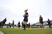 Cary, North Carolina  - Wednesday May 24, 2017: Samantha Mewis prior to a regular season National Women's Soccer League (NWSL) match between the North Carolina Courage and the Sky Blue FC at Sahlen's Stadium at WakeMed Soccer Park. The Courage won the game 2-0.