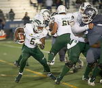 Colorado State's Marvin Kinsey Jr. (5) runs against Nevada in the second half of an NCAA college football game in Reno, Nev., Saturday, Nov. 10, 2018. (AP Photo/Tom R. Smedes)
