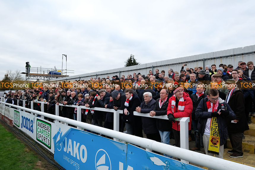 Moaners corner during Woking vs Watford, Emirates FA Cup Football at The Laithwaite Community Stadium on 6th January 2019