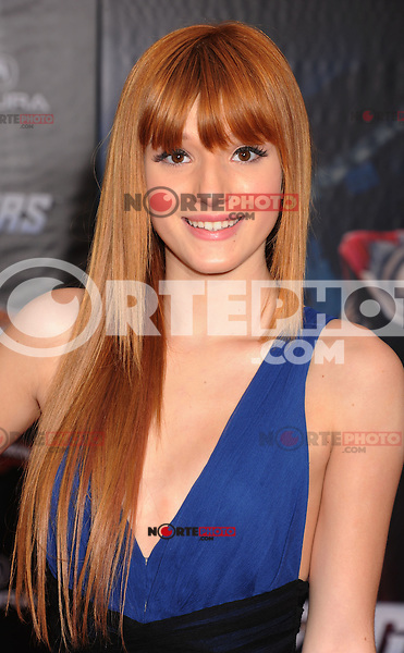 HOLLYWOOD, CA - APRIL 11: Bella Thorne attends the World premiere of 'Marvel's Avengers' at the El Capitan Theatre on April 11, 2012 in Hollywood, California.