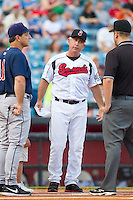 Nashville Sounds manager Rick Sweet (17) prior to the game against the Oklahoma City RedHawks at Greer Stadium on July 25, 2014 in Nashville, Tennessee.  The Sounds defeated the RedHawks 2-0.  (Brian Westerholt/Four Seam Images)
