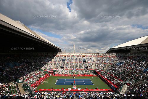 General View, October 6, 2015 - Tennis : Rakuten Japan Open Tennis Championships 2015, the First match between Stan Wawrinka (SUI) - Radek Stepanek (CZE) at Ariake Coliseum, Tokyo, Japan. (Photo by Shingo Ito/AFLO SPORT)