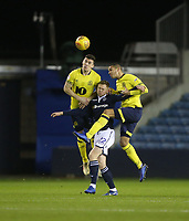 Blackburn Rovers' Darragh Lenihan and Jack Rodwell challenge Millwall's Aiden O'Brien<br /> <br /> Photographer Rob Newell/CameraSport<br /> <br /> The EFL Sky Bet Championship - Millwall v Blackburn Rovers - Saturday 12th January 2019 - The Den - London<br /> <br /> World Copyright &copy; 2019 CameraSport. All rights reserved. 43 Linden Ave. Countesthorpe. Leicester. England. LE8 5PG - Tel: +44 (0) 116 277 4147 - admin@camerasport.com - www.camerasport.com